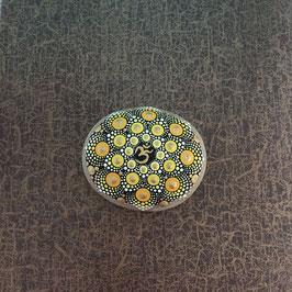 Mandala-Stein strahlendes OM