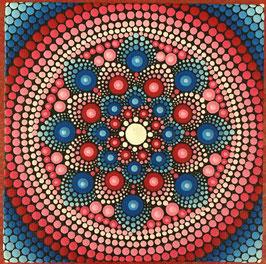 Mandala Rot-Blau 10cm