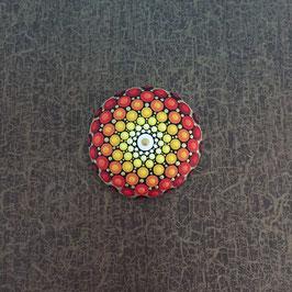 Mandala-Stein große Sonne