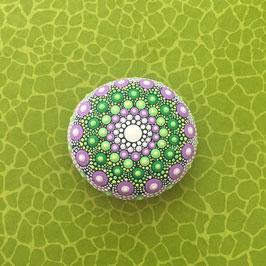 Mandala-Stein Frühlingsblume