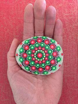 Mandala-Stein Wassermelone