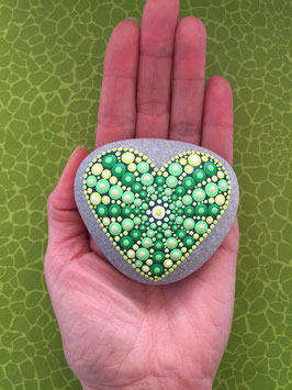 Herzens-Stein grüne Liebe