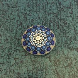 Mandala-Stein Meeresblau
