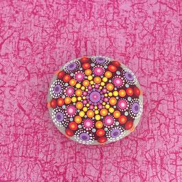 Mandala-Stein pinker Seestern