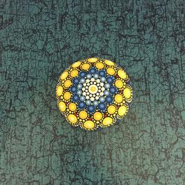 Mandala-Stein Meeresstrand