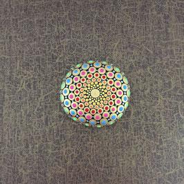 Mandala-Stein Indisch Gold I