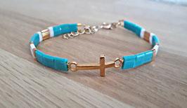 "Bracelet"" Croix"" turquoise"