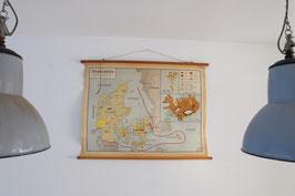 -SOLD- Schoolkaart Denemarken  |  17.229.O