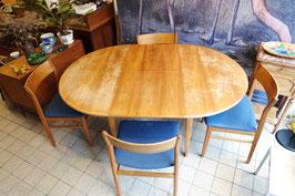 Vintage ronde tafel, uitschuifbaar  |  18.777.M