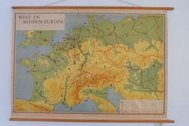 Schoolkaart west Europa  |  17.469.O