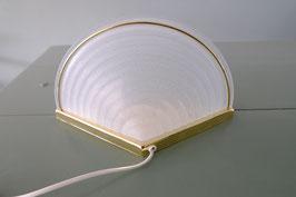 Vintage wandlamp melkglas met messing  | 19.1122.L