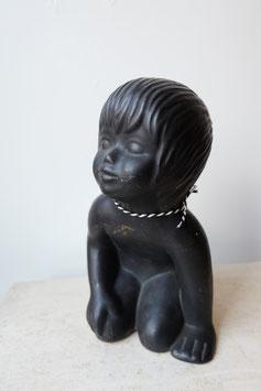 Vintage beeld kind aardewerk  |  18.624.O