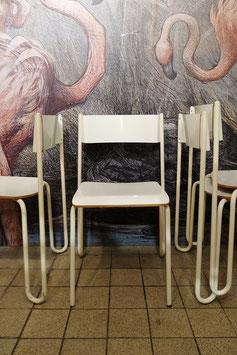 Jaren 80 design set/4 stoelen  |  18.736.M