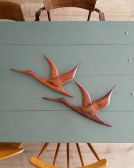 Vintage houten vogels  |  18.651.O