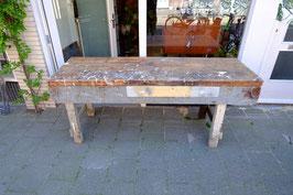 Oude werktafel werkbank hout  |  19.1109.M