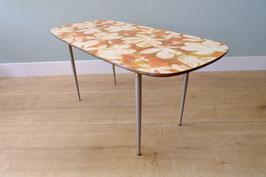 Vintage salontafel met bladpatroon  |  19.1131.M