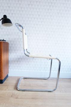 Vintage chrome/leer stoel  |  16.193.M