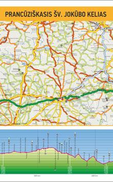 Šv. Jokūbo kelio žemėlapis