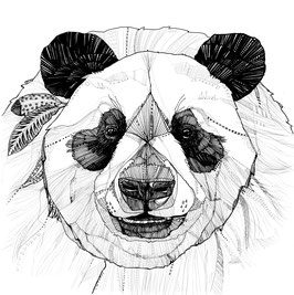 Kunstdruck Panda