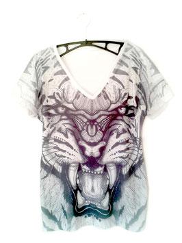T-Shirt der Tiger, V-Neck