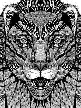 Kunstdruck Panther