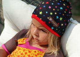 Jersey Mütze Sterne/Schwarz