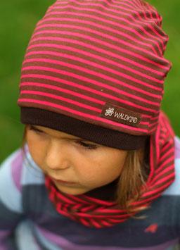 Jersey Mütze Pink/Braun