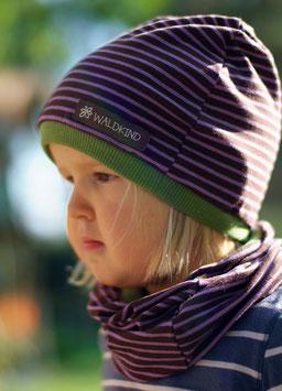 Jersey Mütze Lila/Braun