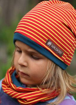Jersey Mütze Rot/Gelb