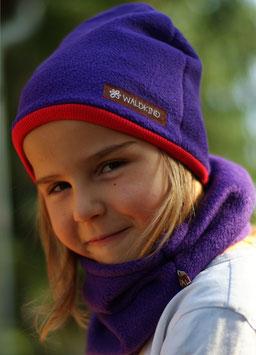 Mütze Polarfleece Lila