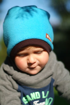 Mütze Polarfleece Türkis