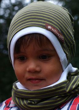 Jersey Mütze Moosgrün
