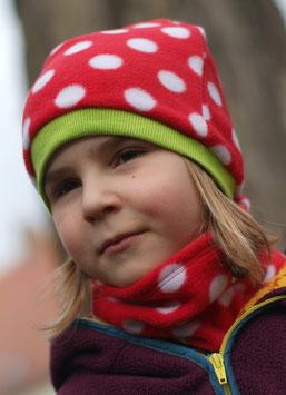Mütze Polarfleece Erdbeere