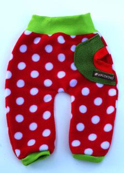 Fleecehose Erdbeere Rot