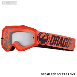 DRAGON MXV (BREAK RED / CLEAR LENS)