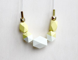 "geometric necklace ""bright yellow"""