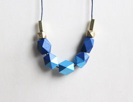 "geometric necklace ""bright blue"""