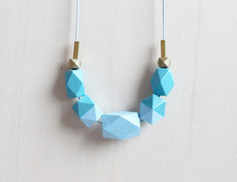 "geometric necklace ""light blue"""