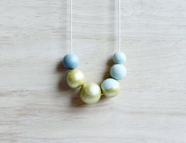 "round necklace ""gray-green"""
