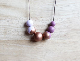 "round necklace ""lilac-copper"""
