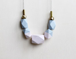 "geometric necklace ""serenity rose quartz"""