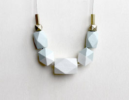 "geometric necklace ""pastel green"""