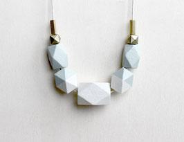 "geometric necklace ""pastel green"""