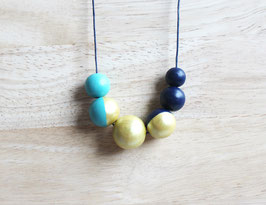 "round necklace ""turquoise-blue"""