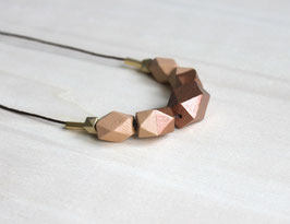 "geometric necklace ""caramel"""