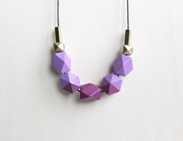 "geometric necklace ""lavender-purple"""