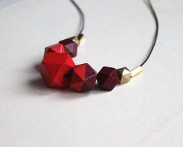 "geometric necklace ""bright red"""