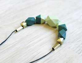 "geometric necklace ""bright green"""