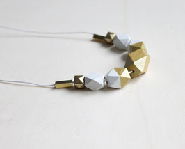 "geometric necklace ""white gold"""