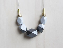 "geometric necklace ""gray anthracite"""